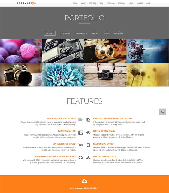 17 best images about 17 of the Best Parallax WordPress Themes on Pinterest