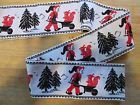 Vintage Woven Trim Scandinavian Elf wheelbarrow squirrel trees 2 yards CUTE! - cute, Scandinavian, squirrel, TREES, trim, vintage, wheelbarrow, Woven, yards