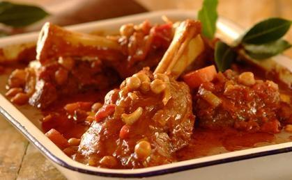 Rosemary, Tomato and Red Wine Braised Lamb Shanks.  YUM!  #stew #recipes