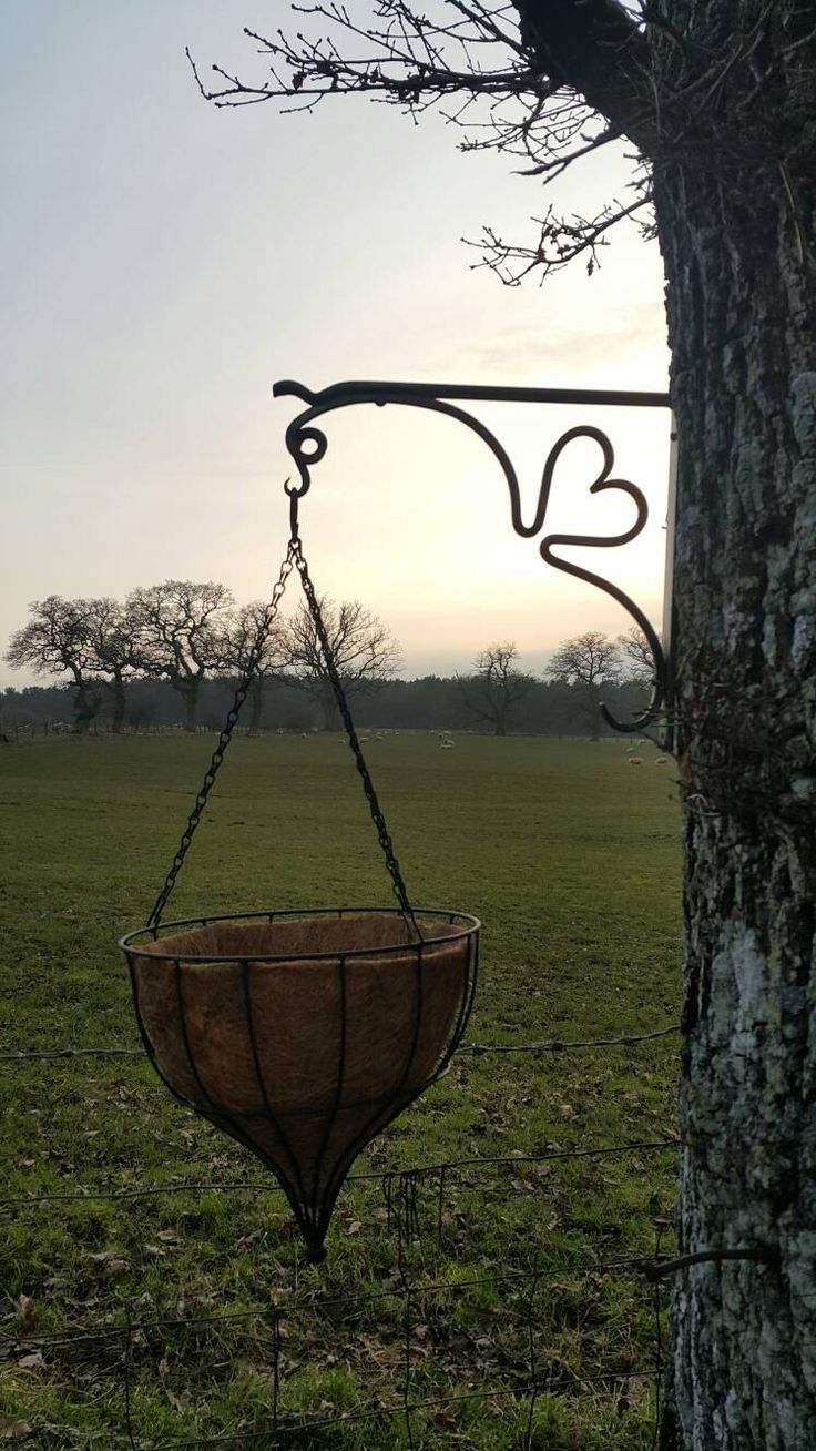 Hand Forged Heart Design Hanging Basket Bracket - Garden Decor - Garden Wall Art - Flower Baskets - Blacksmith Made in Cumbria by OakbeckForge on Etsy https://www.etsy.com/listing/273382204/hand-forged-heart-design-hanging-basket