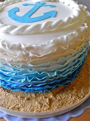 Anchor Birthday Cake