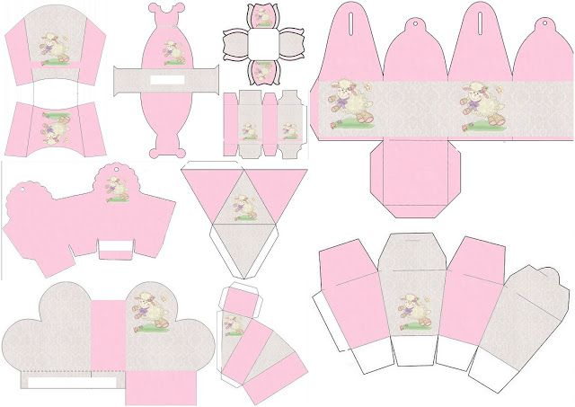 Little Sheep in Pink: Free Printable Boxes. | Oh My Baby!