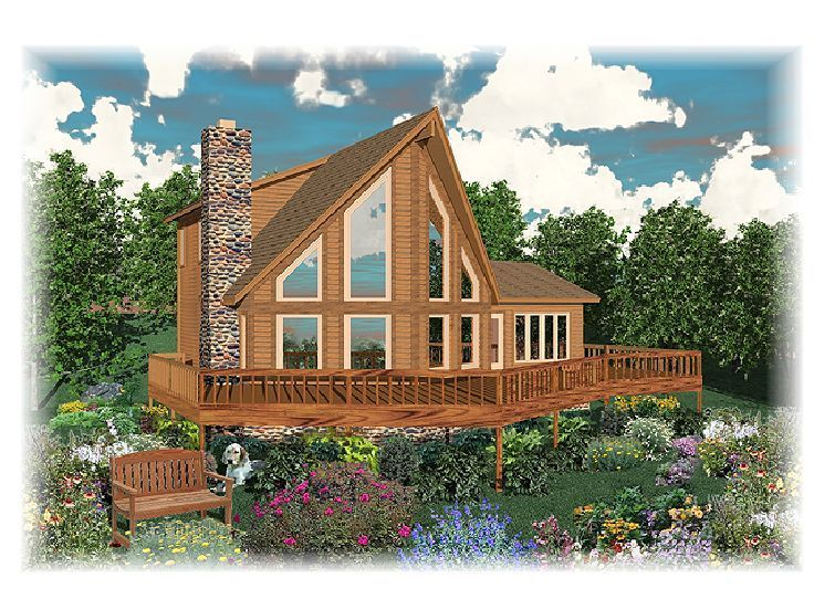 006h 0045 a frame waterfront house plan enjoys large wrap around deck - Waterfront House Plans
