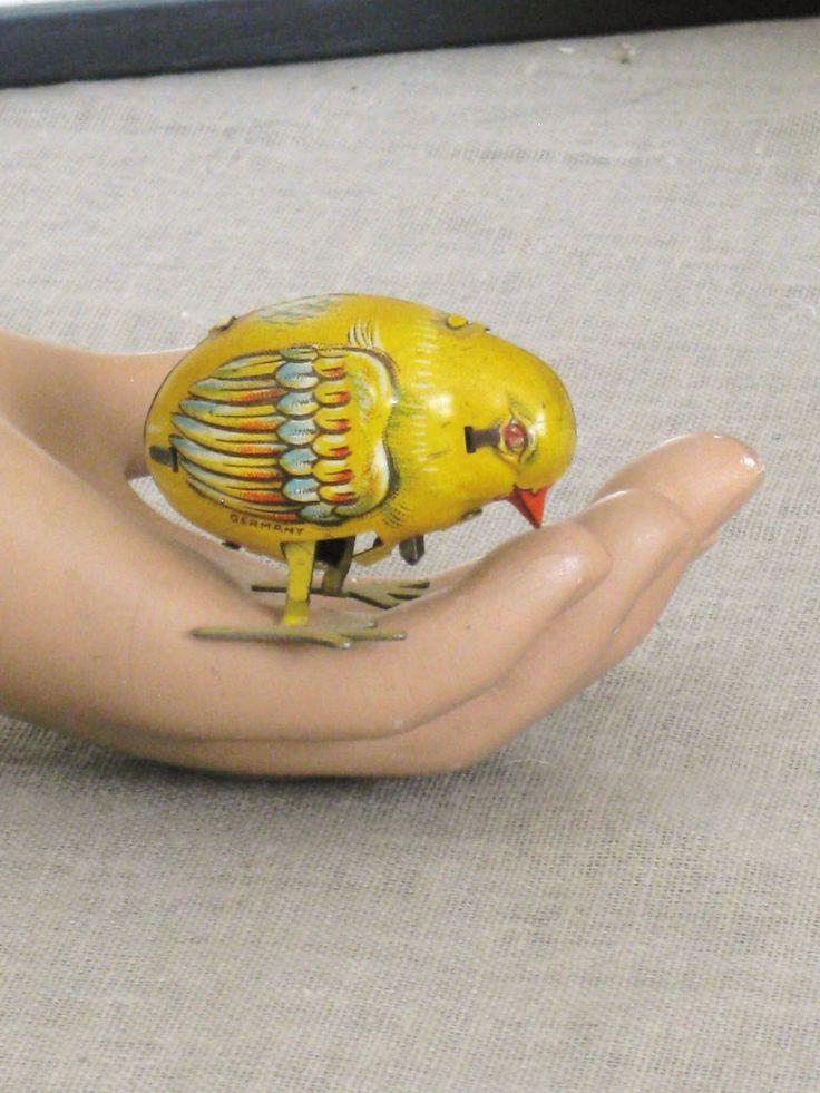 Antique German Wind Up Toy Bird