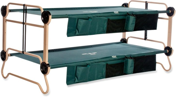 Disc-O-Bed Cam-O-Bunk Cots with Organizers