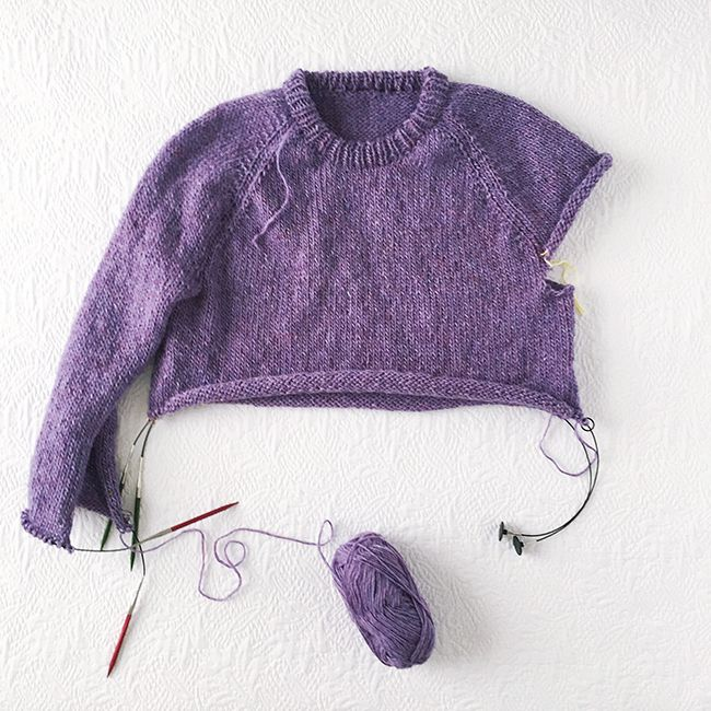 Improv: Basic pattern for a top-down seamless sweater