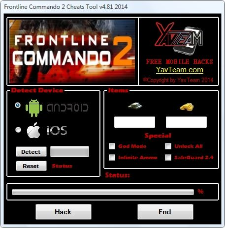 Frontline Commando 2 Cheats Tool v4.81 2014 for Android/iOS. Working without problems. Download here! The Best Cheats only from YavTeam. http://www.yavteam.com/frontline-commando-2-cheats-tool-v4-81-2014/