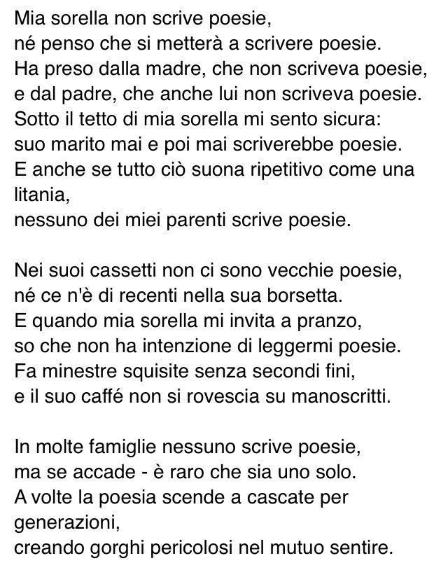 Grazie a chi non scrive. E grazie a @LaLipperini x questa bellissima poesia di Wisława Szymborska che non conoscevo