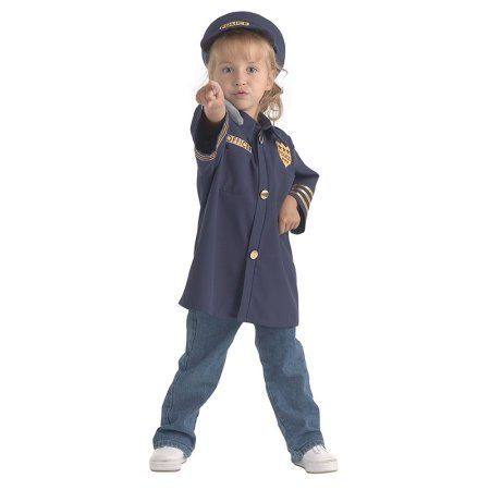 Brand New World Career Costume, Police Officer, Ages 3-6, Multicolor