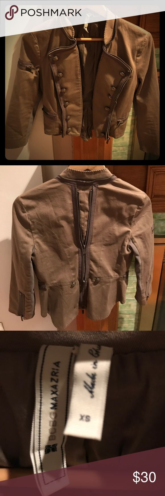 BCBG Max Azria Long Sleeve Military Jacket BCBG Max Azria Long Sleeve Military Jacket. Army green. Size xs. Right lapel needs to be sewn down as it is unattached. BCBGMaxAzria Jackets & Coats Blazers