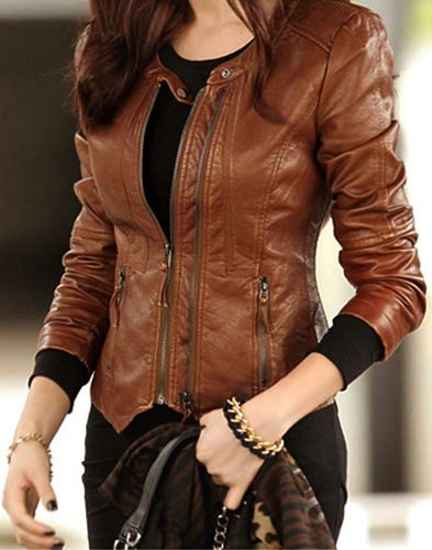 Girls Leather Coat