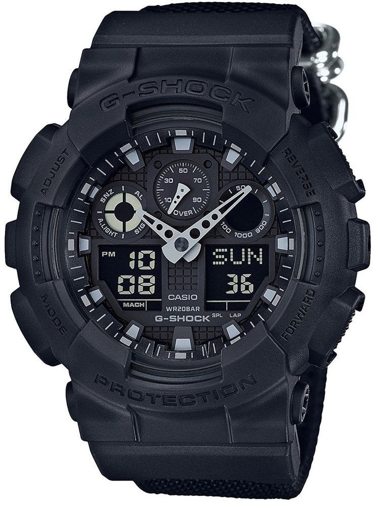 CASIO Men Wrist Watch Auth G-SHOCK Military Black GA-100BBN-1AJF Rare Limited JP #CASIO #Military #wristwatches