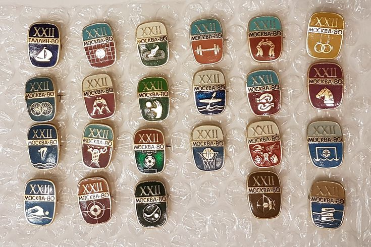 Olympic Games 80 Moscow Pin Badge Set 23pcs USSR 1980 by Olympiad80 on Etsy
