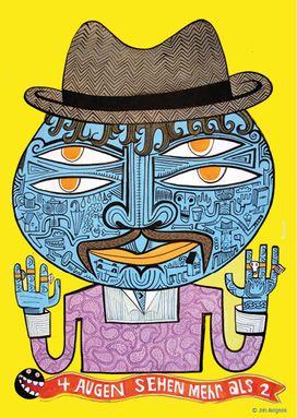 Kartenschiff - Jim Avignon - Vier Augen