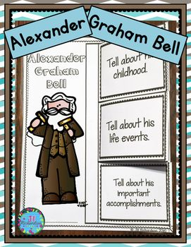 Have your children research Alexander Graham Bell! Included a foldable and fast facts printables in color and black and white!