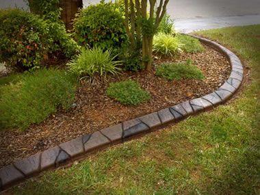 creative flower bed edging | Concrete Curbing / | Bungalow ...