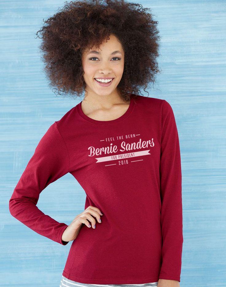 Bernie Sanders for President Ladies Long Sleeve T-shirt