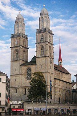 Grossmunster; Zurich, Switzerland; 1220 (main part).  Visited in 2011, also Fraumunster
