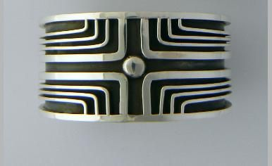 Sterling silver cuff bracelet This would make a really cool ring.