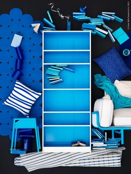 blue bookcase #colors #blue