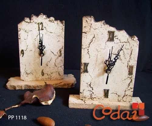 codai reloj escritorio en pasta piedra - decoración - arte