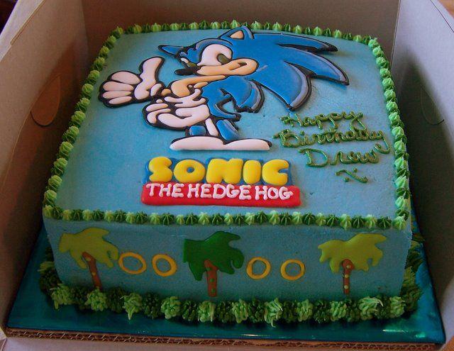 Sonic Birthday Cake cakepins.com