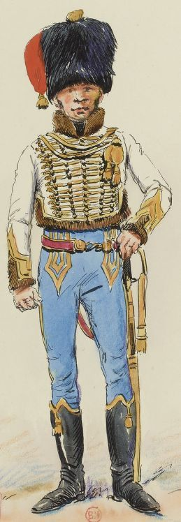 Officier 5e Hussards, 1809