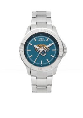 Jack  Mason Silver Womens Jacksonville Jaguars Color Sport Watch