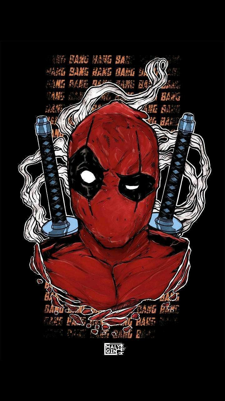 Deadpool Superhero Fictional Character Illustration With