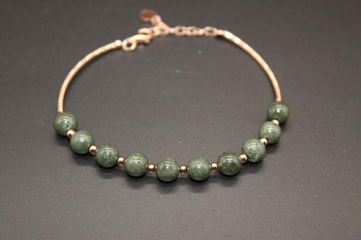 Genuine Green Phantom Quartz Bracelet Round AAA Grade, Chlorite Included Quartz  Bracelets, Garden Quartz  Bracelets with Rose Gold Chain by AmazingGemstone on Etsy