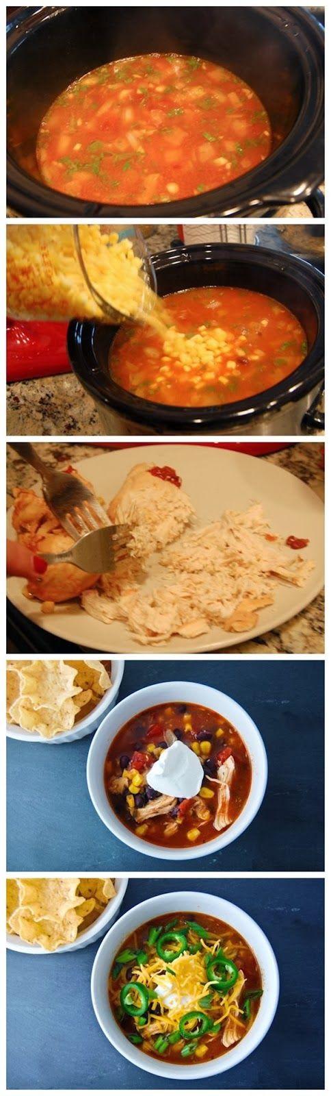 #Recipe : Chicken Enchilada Soup