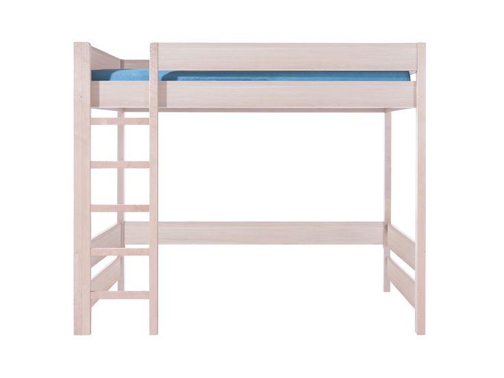 ABC HILoftsäng med madrassHöjd: 180 cm, bredd:90 cm, längd: 190 cm.Basmaterial: möbelskiva, finischfolie, trä.Färg: ek Belluno.Madrassmåtten ä