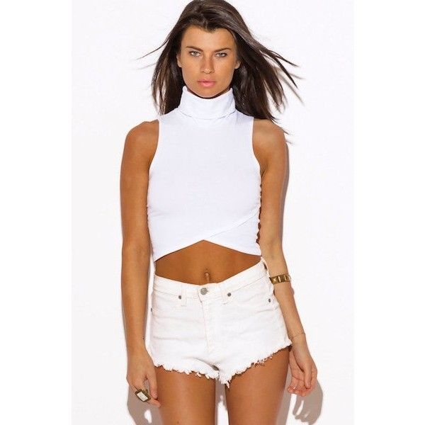 WOMENS WHITE PARTY CROP TOP ($13) ❤ liked on Polyvore featuring tops, party crop tops, night out tops, white going out top, holiday party tops and going out crop tops