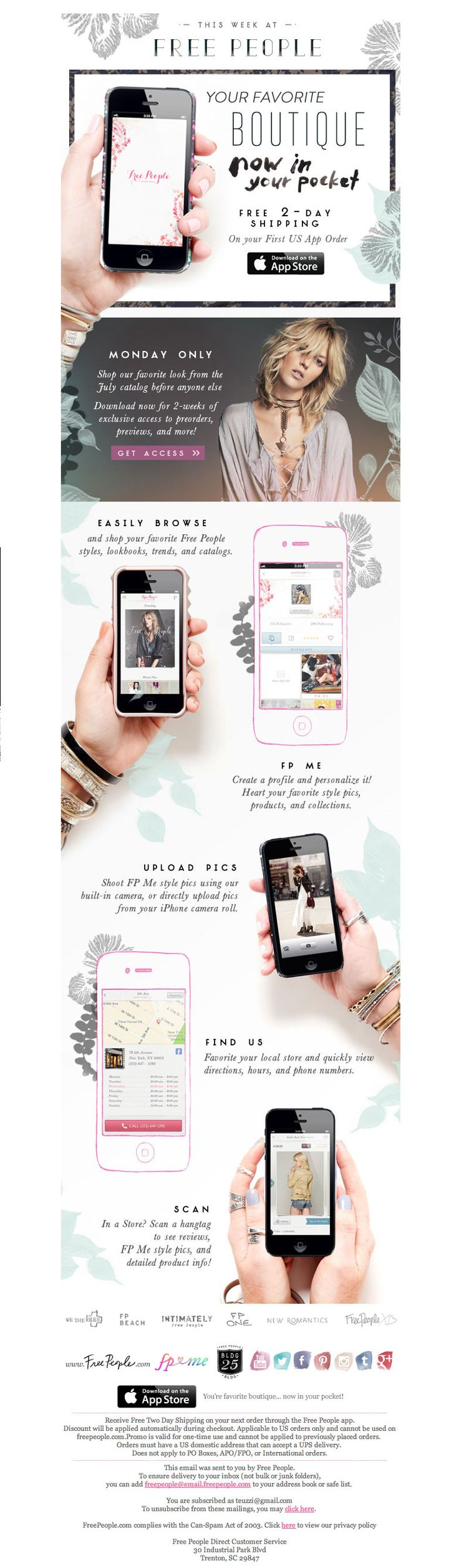 #newsletter Free People #mobile 07.2013