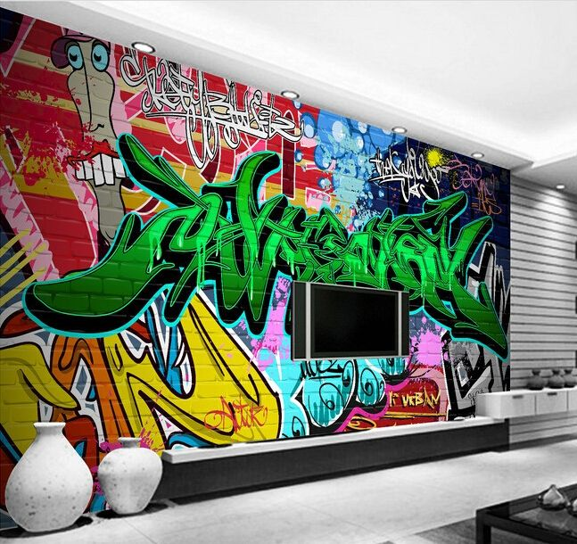 30.00$  Watch now - http://alipay.shopchina.info/go.php?t=32480373003 - Custom papel DE parede 3 d,colorful graffiti murals for the bar for KTV background wall waterproof wallpaper 30.00$ #aliexpresschina