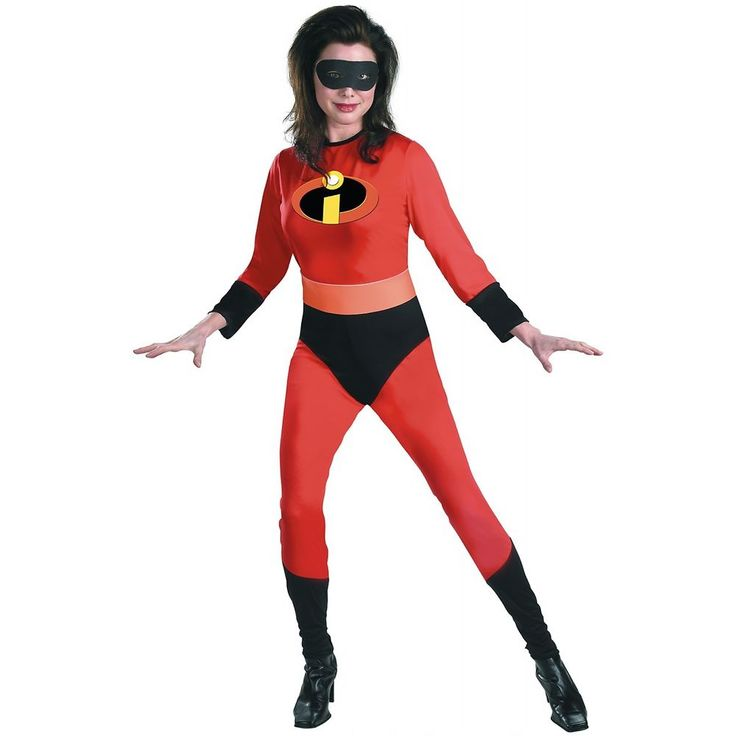 Mrs Incredible Costume Adult The Incredibles Superhero Halloween Fancy Dress #Disguise