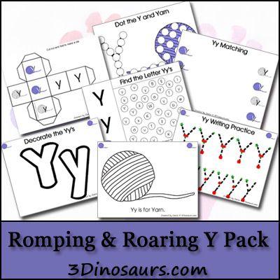 Romping & Roaring Y Pack - 3Dinosaurs.com: Packs Preschool, Free Preschool, 3Dinosaurs Com, Free Romp, Lower Cases, Letters F Preschool Printable, Preschool Education, Activities, Printable Packs