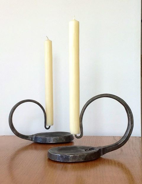 Candlesticks by James Price, Blacksmith and Designer