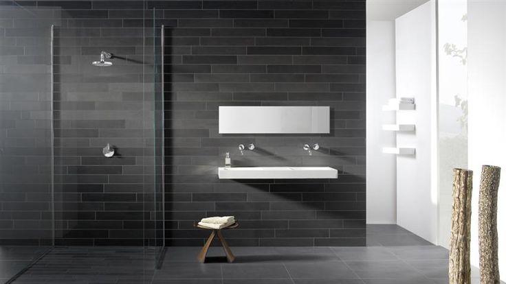 Badkamer witte tegels google zoeken housethings pinterest - Imitatie natuursteen muur tegel ...