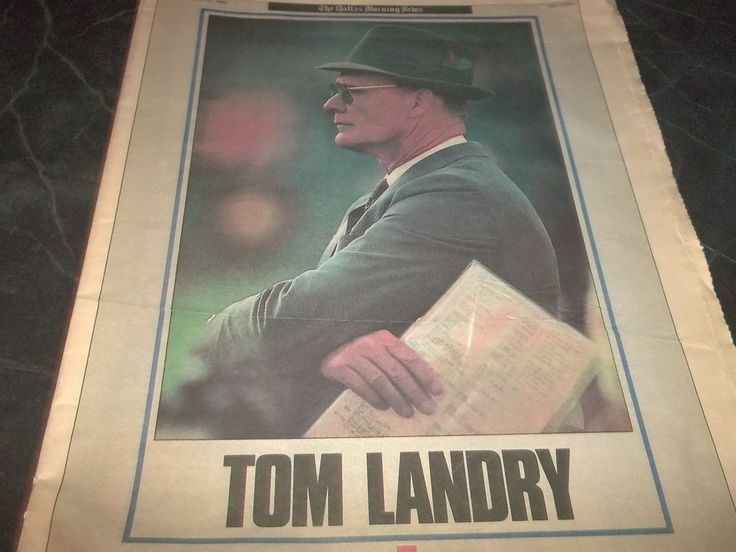 Vintage Dallas Morning News Tom Landry Dallas Cowboys Head Coach End of Era 1989