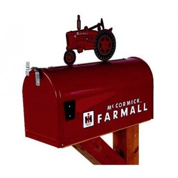 mccormick farmall m briefkasten original us mailbox im xl format mit traktoren landleben. Black Bedroom Furniture Sets. Home Design Ideas