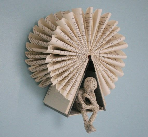 folded book--a grouping of these would be so fabulous!