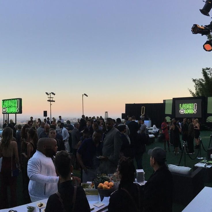 "We had a blast last night helping out with the launch event for Kevin Harts digital network and new app ""Laugh Out Loud"". The app is a video streaming service with original comedy series stand up and live streaming. Do yourself a favor and go download it today! Oh and the view from #bevhills ain't bad either #immerseyourselfwithPES #pacificeventservices"