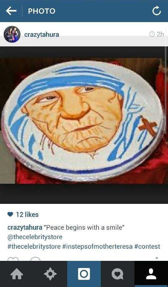Thank you @crazytahura for sharing this with us :) #InStepsOfMotherTeresa #contest