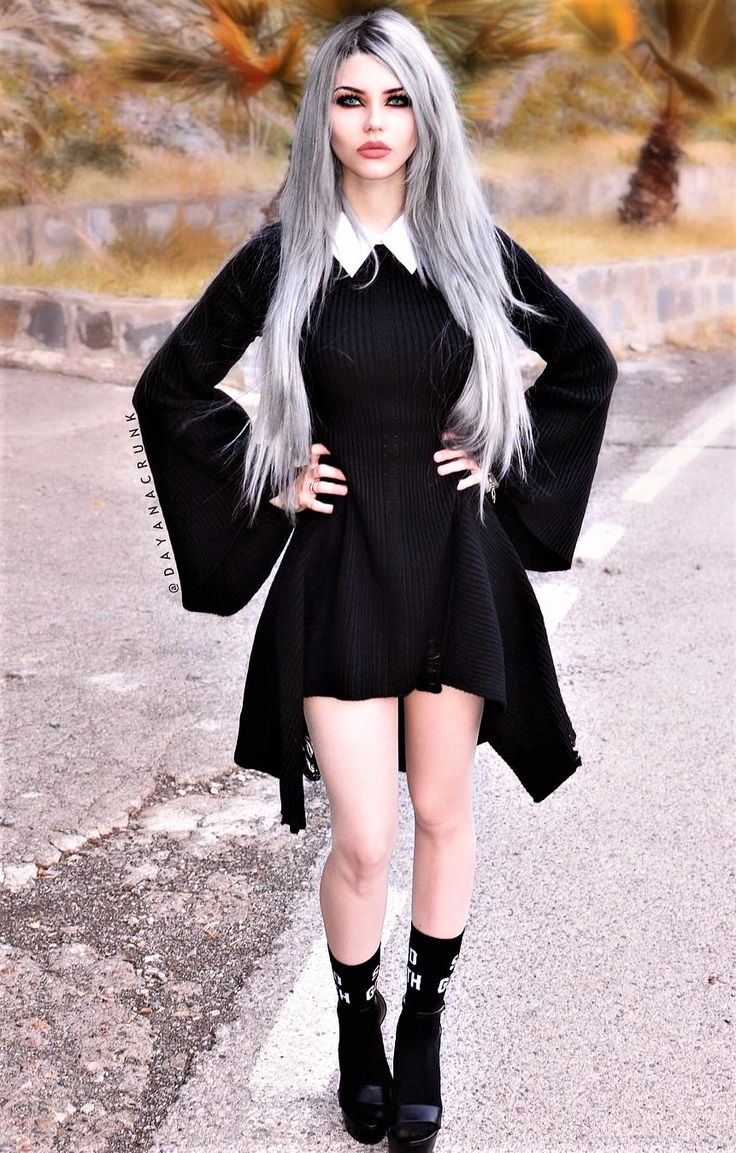 1000 ideas about pastel goth makeup on pinterest nu goth makeup - Black Knit Dress With Collar Black Socks Footwear By Dayanacrunk