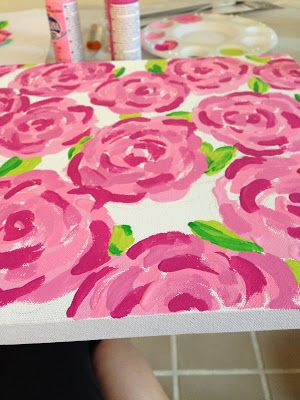 Krafty Kellzster: DIY: Lilly Pulitzer First Impressions Canvas
