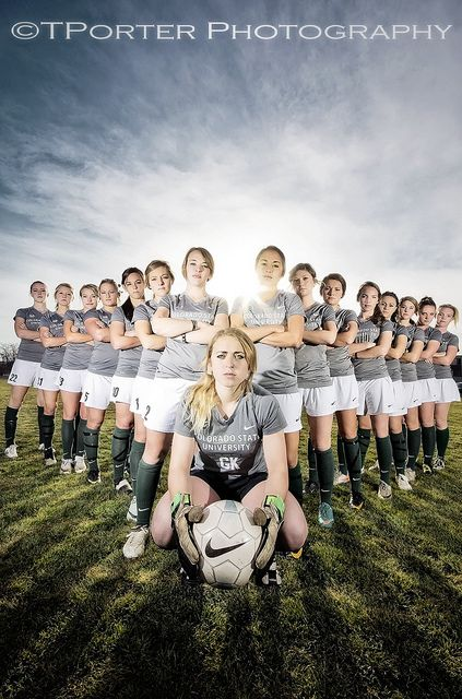 Le'ts shake up team photos!!  CSU Women's Soccer by TylerPPorter, via Flickr . . . Inspiration for high school pics!
