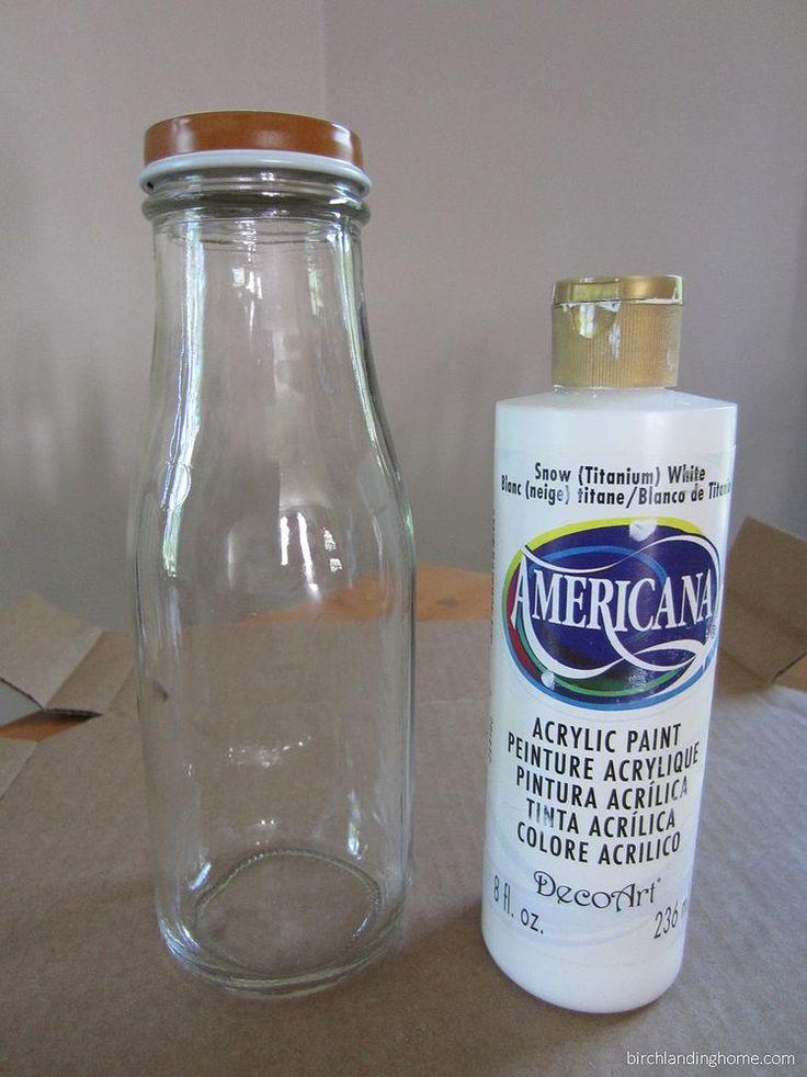 Turn a Starbucks Bottle Into a Milk Bottle Vase :: Hometalk