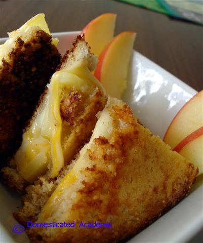 Parmesan Crusted Grilled Cheese | Domesticated Academic