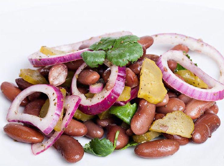 Салат с красной фасолью консервированной / Простые рецепты